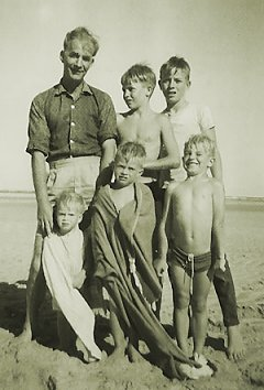 Kidds on the beach, 1960s